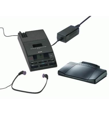 Wiedergabegerät Set 720 für Minikassetten analog schwarz