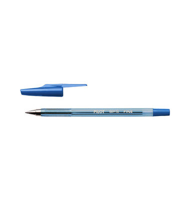 BP-S-F blau Kugelschreiber F 0,3mm mit Kappe
