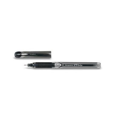 Tintenroller Hi-Tecpoint V7 Grip BXGPN-V7 schwarz/transparent 0,5 mm mit Kappe
