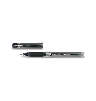 Tintenroller Hi-Tecpoint V10 Grip schwarz/transparent 0,7 mm mit Kappe