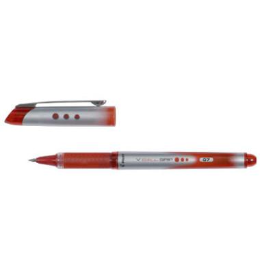Tintenroller V Ball Grip BLN-VBG7 rot/silber 0,5 mm mit Kappe