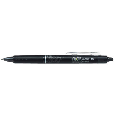Tintenroller Frixion Ball Clicker BLRT-FR7 schwarz 0,4 mm