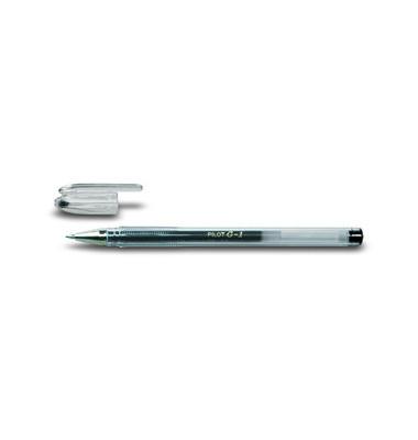 Gelschreiber G-1 BL-G1-7 schwarz 0,4 mm mit Kappe