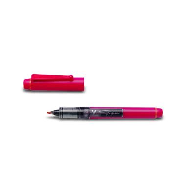 Faserschreiber V Sign Pen SW-VSP rot 0,6 mm mit Kappe
