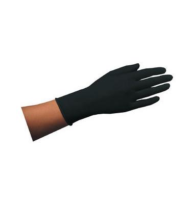 Einmalhandschuh aus Naturlatex schwarz Größe S 100 St