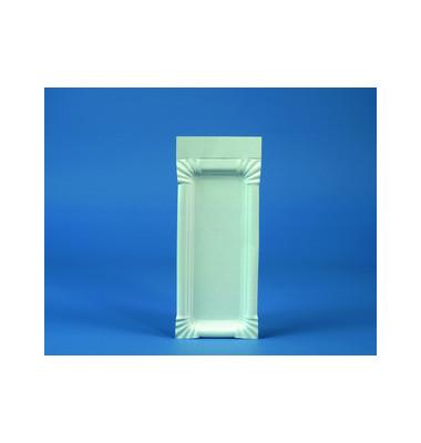 Pappteller mit Anfasser weiß 8x21cm 250 St