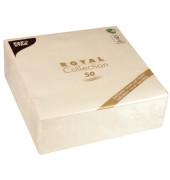 """50 Servietten """"ROYAL Collection"""" 1/4-Falz 40 cm x 40 cm champagne 40x40cm 1-lagig 50 Stück"""