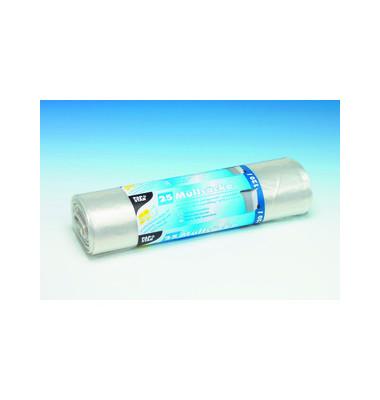 Müllsäcke LDPE-Folie 120L 45my transp. 110x70cm LxB 25 St