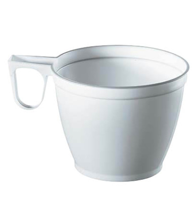 Kunststoff-Tassen PS 0,18 L weiß D:7,8 H:6cm 60 Stück