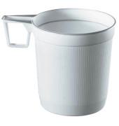 Kunststoff-Tassen PS 0,25l weiß D:8 H:8,5cm 40 Stück