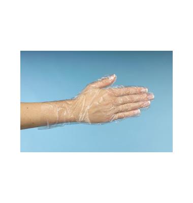 Handschuh LDPE 20my Damen transparent M unsteril 500 Stück