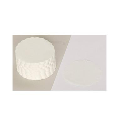 Tassendeckchen rund weiß D: 85mm 500 Stück