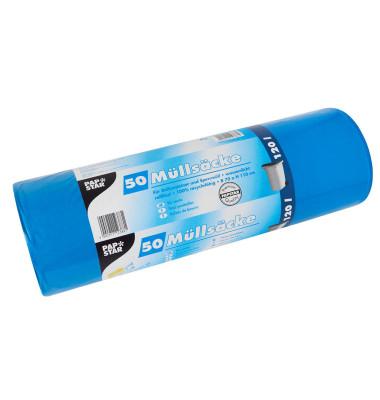 Müllsäcke LDPE 120 L blau 110x70cm 50 St