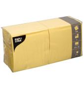 Serviette 3-lagig 1/4-Falz gelb 33x33cm 51g 250 Stück