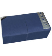 Serviette 3-lagig 1/4-Falz dunkelblau 33x33cm 51g 250 Stück