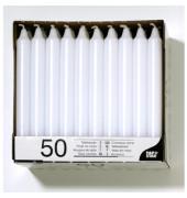 Tafelkerze Paraffin ca.7h weiß 21 x 196mm DxH 50 Stück