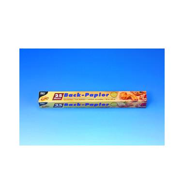 Backpapier Pap.veredelt 43g/qm braun 39cmx25m Faltsch.