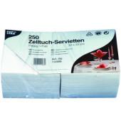 Servietten 2-lagig 1/4 Falz Tissue weiß 250 Stück