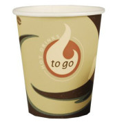 Trinkbecher Pappe To Go braun/weiß 200ml 50 Stück