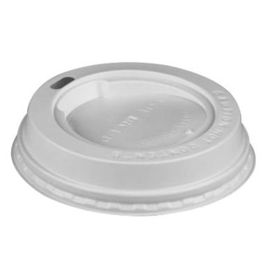 Deckel PS To Go weiß Durchmesser: 8cm 100 Stück