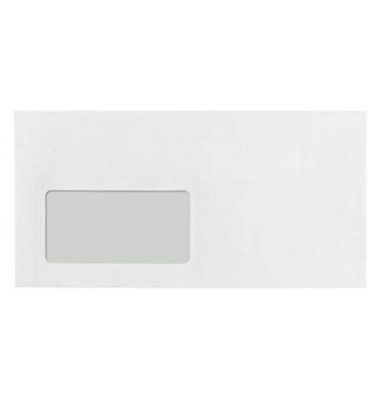 Briefumschläge TopSTAR Din Lang mit Fenster haftklebend 100g hochweiß 250 Stück LaserLine