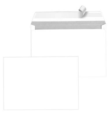 Versandtaschen TopStar C5 ohne Fenster haftklebend 100g hochweiß 250 Stück Öffnung an der langen Seite