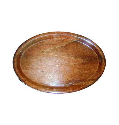 Pressholztablett oval braun 23x16cm