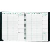 Buchkalender Eurequart 1Woche/2Seiten schwarz 24x30cm 2019