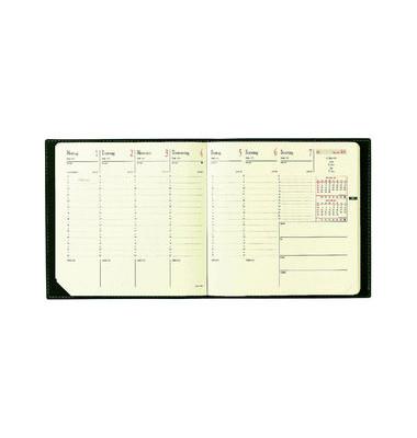 Buchkalender Executif Prestige 1Woche/2Seiten schwarz 16x16cm 13Monate 2021