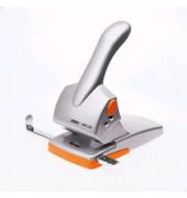 Registratur-Locher HDC65 silber/orange 6,5mm 65 Blatt mit Anschlagschiene