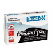 Heftklammern super strong 24858500, 24/8+, verzinkt, Heftleistung 50 Blatt max., 1000 Stück