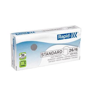 Heftklammern Standard 26/6 verzinkt 5000 Stück