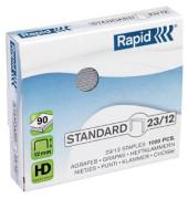 Heftklammern standard 24869400, 23/12, verzinkt, Heftleistung 90 Blatt max., 1000 Stück
