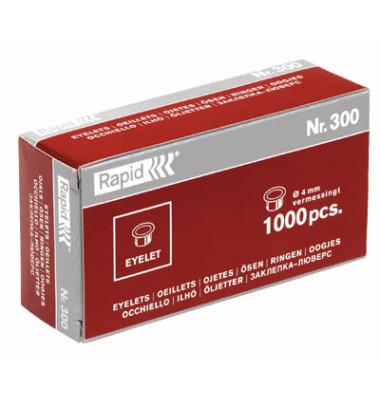 Ösen Nr 300 Ø 4mm Messing für Öszangen Combi 80/300 1000 Stück