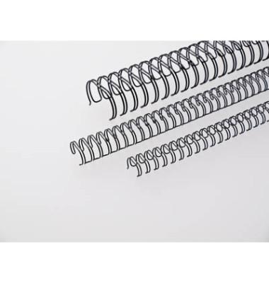 Drahtbinderücken Ring Wire 310800134 schwarz 3:1 34 Ringe auf A4 60 Blatt 8mm 100 Stück