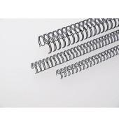 Drahtbinderücken Ring Wire 311430134 schwarz 3:1 34 Ringe auf A4 120 Blatt 14,3mm 50 Stück