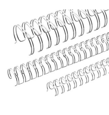 Drahtbinderücken Ring Wire 311430634 silber 3:1 34 Ringe auf A4 120 Blatt 14,3mm 50 Stück