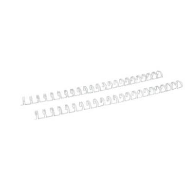 Drahtbinderücken Ring Wire 320800023 weiß 2:1 23 Ringe auf A4 60 Blatt 8mm 100 Stück