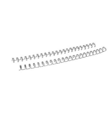 Drahtbinderücken Ring Wire 320800123 schwarz 2:1 23 Ringe auf A4 60 Blatt 8mm 100 Stück