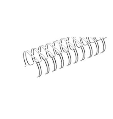 Drahtbinderücken Ring Wire 320950623 silber 2:1 23 Ringe auf A4 75 Blatt 9,5mm 100 Stück