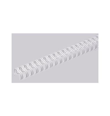 Drahtbinderücken Ring Wire 321100023 weiß 2:1 23 Ringe auf A4 90 Blatt 11mm 100 Stück