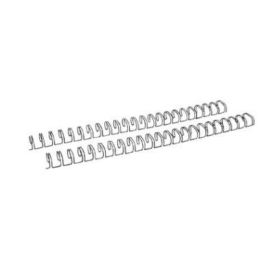 Drahtbinderücken Ring Wire 321270123 schwarz 2:1 23 Ringe auf A4 105 Blatt 12,7mm 100 Stück