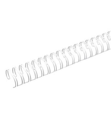 Drahtbinderücken A4 23Schlauf. weiß 2:1 14,3mm 9/16Z 50 St