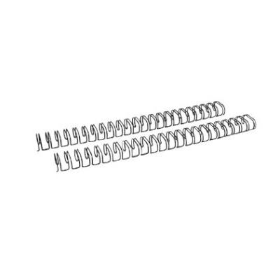 Drahtbinderücken Ring Wire 321430123 schwarz 2:1 23 Ringe auf A4 120 Blatt 14,3mm 50 Stück