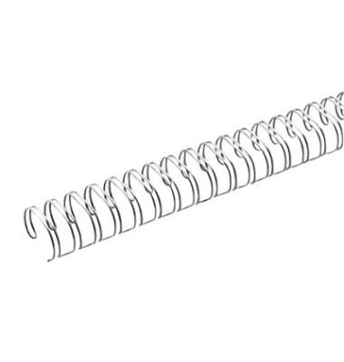 Drahtbinderücken A4 silber 14,3mm 2:1Teilung 50 Stück