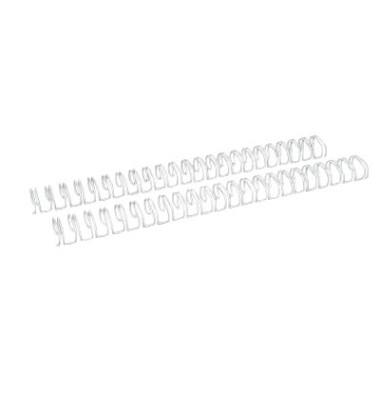 Drahtbinderücken Ring Wire 321600023 weiß 2:1 23 Ringe auf A4 135 Blatt 16mm 50 Stück