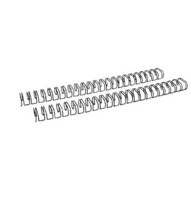 Drahtbinderücken Ring Wire 321900123 schwarz 2:1 23 Ringe auf A4 160 Blatt 19mm 50 Stück