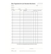 Bau-Tagesberichtblock A4 3x50 Bl