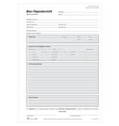 Bautagesberichtblock 1309 A4 selbstdurchschreibend 3x 40 Blatt