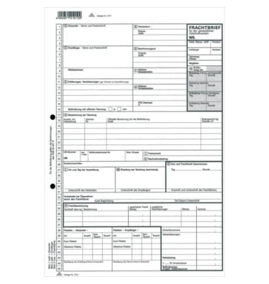 Frachtbrief 2101 für Güterkraftverkehr A4 selbstdurchschreibend 1x 3 Blatt